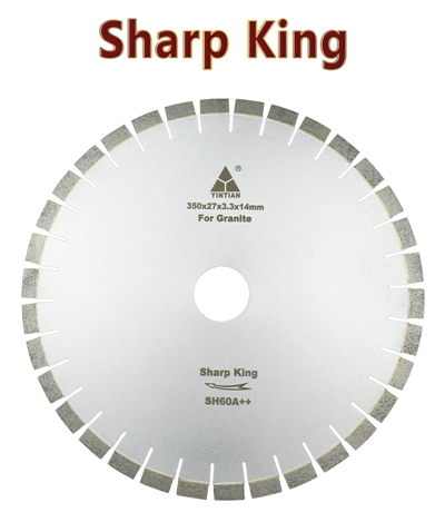 φ350mm S-AF Sharp King granite saw blade